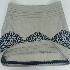 Anthropologie Skirts - FLOREAT Embroidered Skirt Women's Size 4